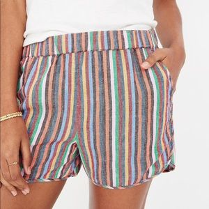 Madewell Rainbow Stripe Shorts